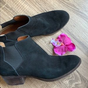 Lucky Brand Black Ankle Booties Size 8.5